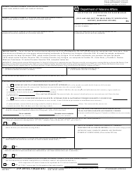 """VA Form 21P-0512S-1 """"Old Law and Section 306 Eligibility Verification Report (Surviving Spouse)"""" (English/Spanish)"""