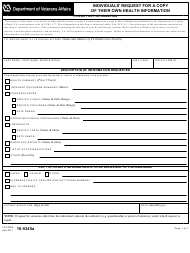 "VA Form 10-5345A ""Individuals' Request for a Copy of Their Own Health Information"""