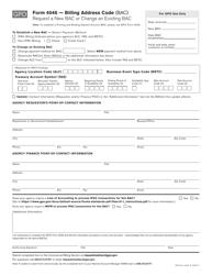 "GPO Form 4046 ""Billing Address Code (Bac) Request"""