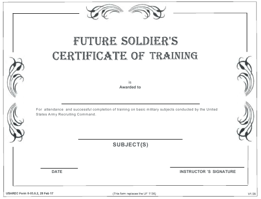 USAREC Form 5-03.5.2  Printable Pdf