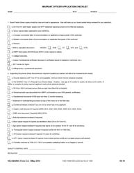 "HQ USAREC Form 3.0 ""Warrant Officer Application Checklist"""