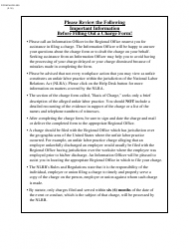 Form NLRB-509 Charge Alleging Unfair Labor Practice Under Section 8(E) of the Nlra