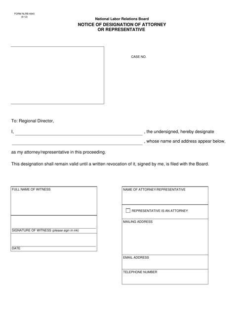 Form NLRB-4943  Printable Pdf