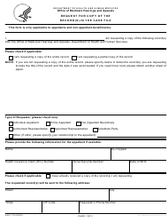 "Form HHS-719 ""Request for Copy of the Record(S) in the Case File"""