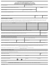 Form PHS-2988 Voucher for Reimbursement for Travel Dependence of Phs Commissioned Officers