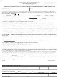 Form PHS 6106 Agreement to Receive an Allowance Under the Federal Physicians Comparability Allowance Program (5 U.s.c. 5948)