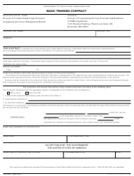 Form PHS-1881-1 Basic Training Contract