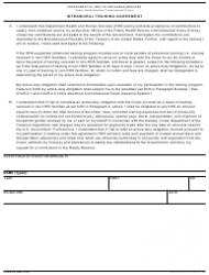 Form PHS-6374 Intramural Training Agreement