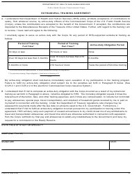 "Form PHS-6373 ""Extramural Training Agreement"""