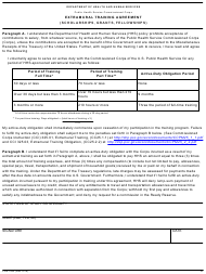 "Form PHS-7062 ""Extramural Training Agreement (Scholarships, Grants, Fellowships)"""