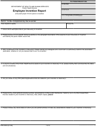 """Form PHS-6364 """"Employee Invention Report"""""""