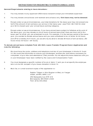 """Instructions for Form AD-1043 """"Leave Transfer Program Donor Application"""""""