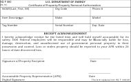 "DOE HQ Form 580 ""Certificate of Property / Property Removal Authorization"""