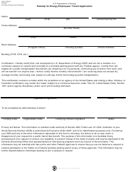 "DOE HQ Form 3780.2 ""Subsidy for Energy Employees' Transit Application"""