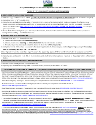 """Form AD-1101 """"Approval and Report of Travel Funds Received From Non-federal Sources"""""""