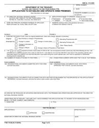 "TTB Form 5120.25 ""Application to Establish and Operate Wine Premises"""