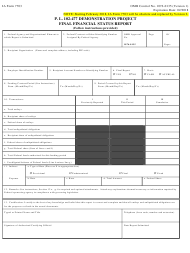 BIA Form 7703 P.l.102-477 Demonstration Project - Final Financial Status Report