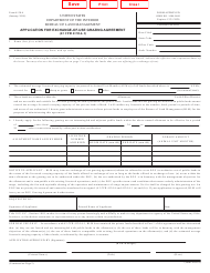 BLM Form 4130-4 Application for Exchange-Of-Use Grazing Agreement