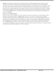 Instructions for Form Fda 356h - Application to Market a New or