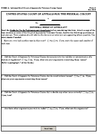 "Form 13 ""Informal Brief (Court of Appeals for Veterans Claims Cases)"""