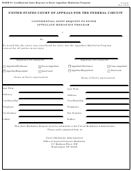 "Form 27 ""Confidential Joint Request to Enter Appellate Mediation Program"""
