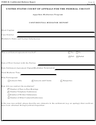 "Form 29 ""Confidential Mediator Report"""
