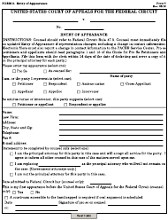 "Form 8 ""Entry of Appearance"""