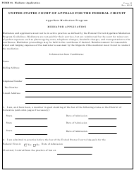 "Form 25 ""Mediator Application"""