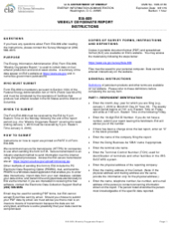 Instructions for Form Eia-809 - Weekly Oxygenate Report