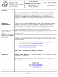Instructions for Form Eia-861 - Annual Electric Power Industry Report