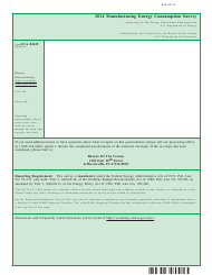 Form EIA-846B Manufacturing Energy Consumption Survey