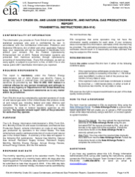 Instructions for Form Eia-914 - Monthly Crude Oil and Lease Condensate, and Natural Gas Production Report