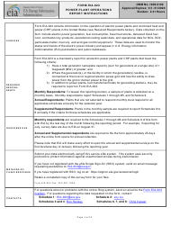 Instructions for Form Eia-923 - Power Plant Operations Report