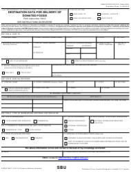 Form FNS-7 Destination Data for Delivery of Donated Foods
