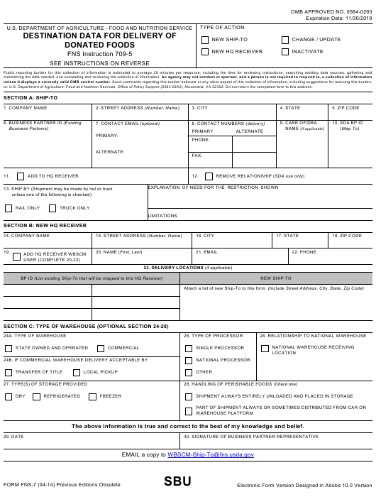 Form FNS-7 Printable Pdf