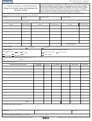 "Form FNS-292A ""Report of Commodity Distribution for Disaster Relief"""
