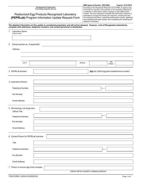Form 10,000-8  Fillable Pdf