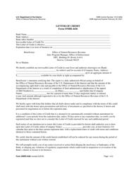 Form ONRR-4436 Letter of Credit