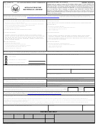 """NRC Form 313 """"Application for Materials License"""""""