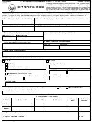 """NRC Form 354 """"Data Report on Spouse"""""""