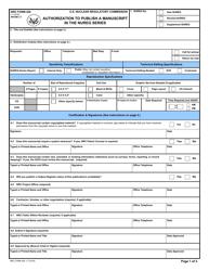 Form 426 Authorization to Publish a Manuscript in the Nureg Series