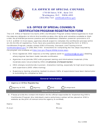 """U.S. Office of Special Counsel's Certification Program Registration Form"""