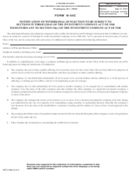 SEC Form 1938 Form N-54c, Notification of Withdrawal of Election to Be Subject to Sections 55 Through 65 of the Investment Company Act of 1940 Filed Pursuant to Section 54(C) of the Investment Company Act of 1940