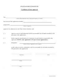 Form B Certificate of State Approval