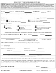 Form 5512/1 Request for Ncis Credentials