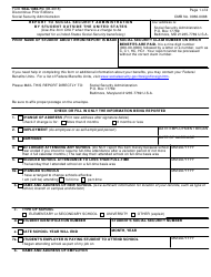 Form SSA-1383-FC Report to Social Security Administration by Student Outside the United States