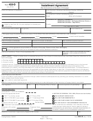 IRS Form 433-d Installment Agreement