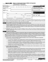 """IRS Formulario 944-X (SP) """"Ajuste a La Declaracion Federal Anual Del Empleador O Reclamacion De Reembolso"""" (Spanish)"""