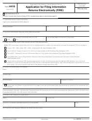 """IRS Form 4419 """"Application for Filing Information Returns Electronically (Fire)"""""""