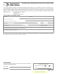 "Form AA-AUD1 ""International Registration Plan Audit Appeal Form"" - New York"